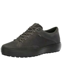 Ecco Soft 7 Tred Gore-Tex Magnet Leather Lace Sneakers Shoes EU 47 Mens 13 -13.5