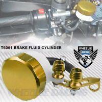 GOLD CNC ALUMINUM FRONT BRAKE/CLUTCH TANK FLUID RESERVOIR BOTTLE MASTER CYLINDER