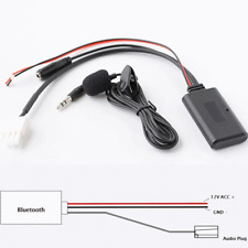 For Honda Goldwing GL1800 3-Pin Bluetooth Adapter AUX Music Audio Wire Cable+MIC
