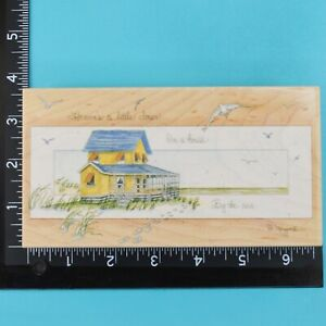 Heavens Closer By the Sea 80152 D Morgan Stamps Happen Wood Mounted Rubber Stamp