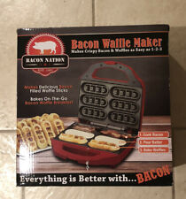 New Bacon Nation Smart Planet Waffle Maker Bnb-1Bw Urban Outfitters Cooking B