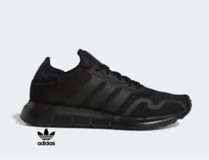 Adidas Swift Run XJ Athletic Running Sneakers Black/Black/Black FY2153