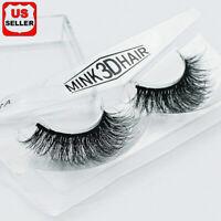 100% Siberian Mink Fur Soft Thick 3D False Eyelashes Natural Long Lashes Handmad