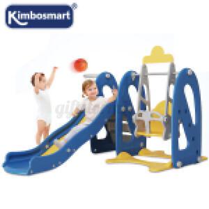 4in1 Blau Rutsche Kinderrutsche Schaukel Garten Baby Draußen Innen Zimmerrutsche