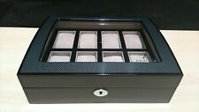 Watch  Box for 8 Watches with Carbon Fibre High Gloss Finish by Aevitas