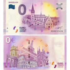 0 Euro Bardejov Souvenir Banknote Slowakei 2018