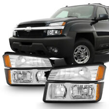 Chrome 2002-2006 Chevy Avalanche [Body Cladding] Headlights+Bumper Signal Lamps