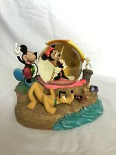 Mickey And Minnie's Day At The Beach Disney Snow Globe In Original Box