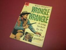 WRINGLE WRANGLE #821 Dell Four Color 1957 movie western FESS PARKER DISNEY