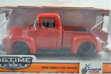 1:24 Jada 1956 Ford F-100 Pickup RED BTM Diecast model
