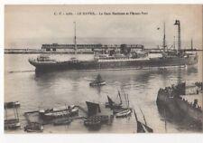 Le Havre La Gare Maritime & Avant Port France Vintage Postcard US090