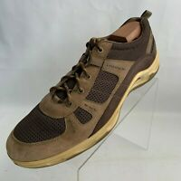 ECCO Mens Sneakers Brown Leather Suede Lace Up Size EU 47 US 13-13.5