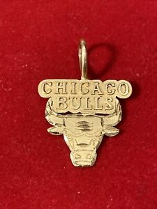 Michael Anthony 14k Yellow Gold Chicago Bulls Basketball Charm NBA 1987