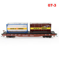 HO Scale SOUTHERN PACIFIC 52' Flat Car 20ft BERTSCHI AG Oil Tankers Freight Cars