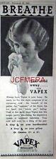 VAPEX Inhalant; Original 1932 Chemist Medical Advert - Vintage Art Deco Print AD