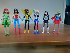 Dc superhero girls 6 Inch 6x Figures Bundle. Harley quinn, wonder woman + more