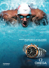 Omega Planet Ocean Watch print ad 2008 - Michael Phelps Olympic swimmer