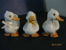 Homco Vtg Set Of 3-Porcelain Duck Figurines #1414