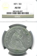 1871 Seated Liberty Dollar : NGC AU50