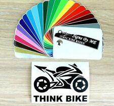 Think Bike Sticker JDM Vinyl Decal Adhesive Car Window Bumper Tailgate #4 Black