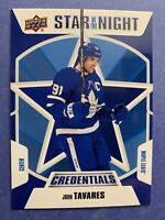 2019-20 UD Upper Deck Credentials Star Of The Night #1S-04 John Tavares Toronto