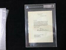 1956 President Dwight D. Eisenhower Typed White House Letter Signed BAS BECKETT