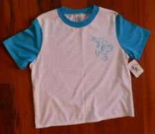 Mickey & Co T-Shirt Size M White Blue Trim White Top Nwt Embroidered Mickey