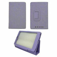 CASE FOR GOOGLE NEXUS 7 LILAC DIAMOND BLING GLITTER PRINT PU LEATHER COVER