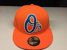 Official Genuine MLB NEW ERA Orange Baltimore Orioles Baseball Cap Hat 7 1/8