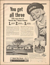 1955 Vintage ad for Dutch Boy House Paint Little Girl Hat House Photo   082117