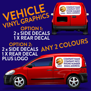 SMALL VAN VEHICLE SIGN WRITING VINYL LETTERING AND LOGO STICKERS GRAPHICS DECALS