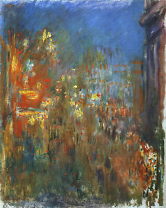 CLAUDE MONET LEICESTER SQUARE AT NIGHT CANVAS PICTURE POSTER PRINT UNFRAMED D167