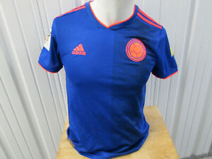 VINTAGE adidas COLOMBIA NATIONAL FUTBOL TEAM SMALL JERSEY 2018 KIT WORLD CUP