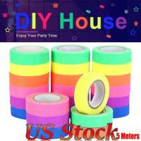 1/3/6 Roll Luminous Warning Tape UV Fluorescent Tape Reactive Tape Party Decor