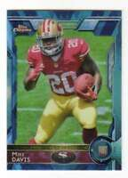 2015 Topps Mini Chrome Diamond Refractor RC #139 Mike Davis 49ers