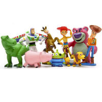 Toy Story Buzz Lighter Woody Jessie Dinosaur Lotso Action Figure Kids Toy 9 PCS