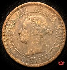 1884 Canada 1 Cent OBV2 - F/VF - Lot#731