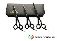 Hairdressing Hair Cutting Barber Professional Scissors Shears BLACK RAZOR SHARP