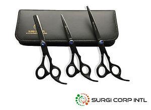 Hairdressing Hair Cutting Barber Professional Scissors Shears BLACK RAZOR SHARP