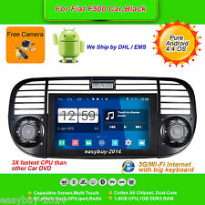 6.2''Android 4.4 Car DVD Player,Stereo,GPS,Radio,Wifi,Aux for Fiat F500 Black