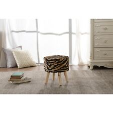 Square Ottoman | Super Soft Decorative Faux Fur Foot Stool - by Cheer Collection