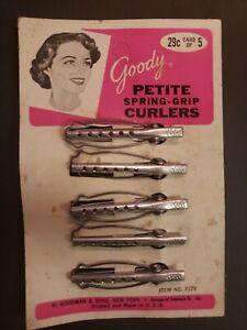 Vintage Goody 5 Petite Spring Grip Curlers #2179 New Old Stock Original Package