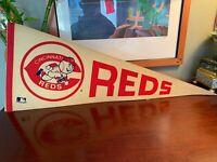 Vintage 1960's To 70's Cincinnati Reds Pennant Flag Very Rare Baseball History