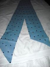 "Vintage 1970's Blue Scarf; 63"" X 5"" Very Nice Condition"