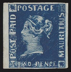MAURITIUS 1848 QV Post Paid 2d EARLIEST IMPRESSION CERTIFICATE GREAT RARITY !