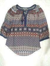 Daniel Rainn Womens paisley Blouse Medium 100%polyester.Made in china.multicolor