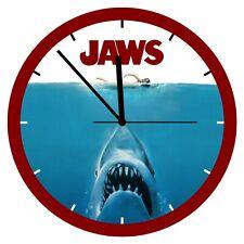 "Jaws Custom 8½"" Round Wall Clock Steven Spielberg 1975 classic shark movie"