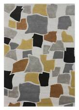 Hand Tufted Modern Geomatric White Gray Colour 8X11 Feet Wool Viscose Area Rug