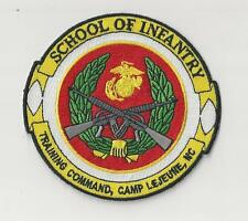 USMC PATCH - SCHOOL OF INFANTRY, TRAINING COMMAND, CAMP LEJUNE, NC