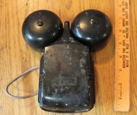 Vintage Bell System Western Electric telephone alarm double bells hammer ringer